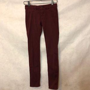 Abercrombie Kids Burgundy Skinny Jeans Size 16